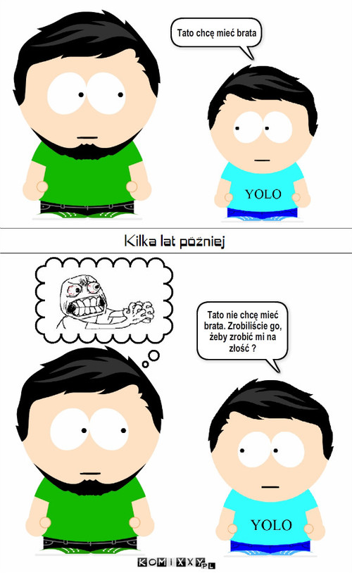 Logika dzieci – Tato chcę mieć brata Tato nie chcę mieć brata. Zrobiliście go, żeby zrobić mi na złość ?
