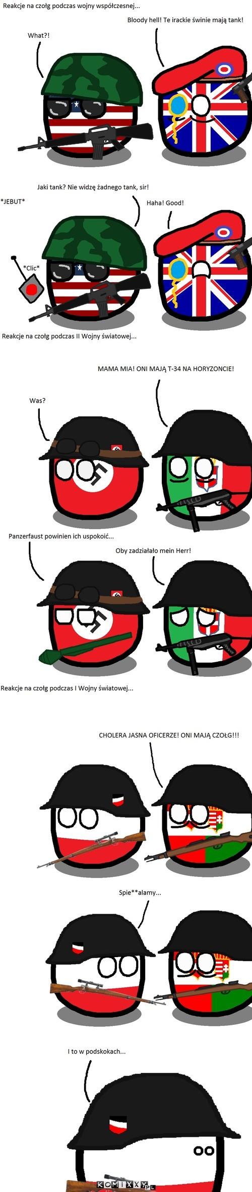Reakcje na czołg –