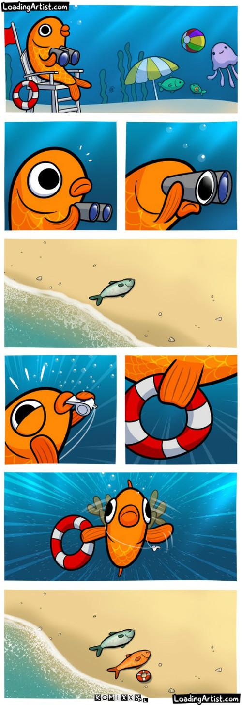 Na plaży –