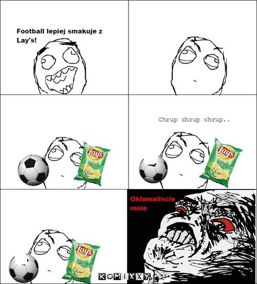 Football lepiej smakuje z Lay\'s! –